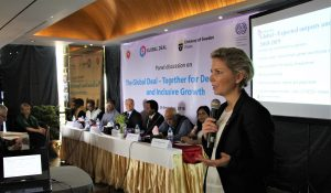 Sofia Östmark, Ambassador and Coordinator for the Global Deal, presenting the partnership